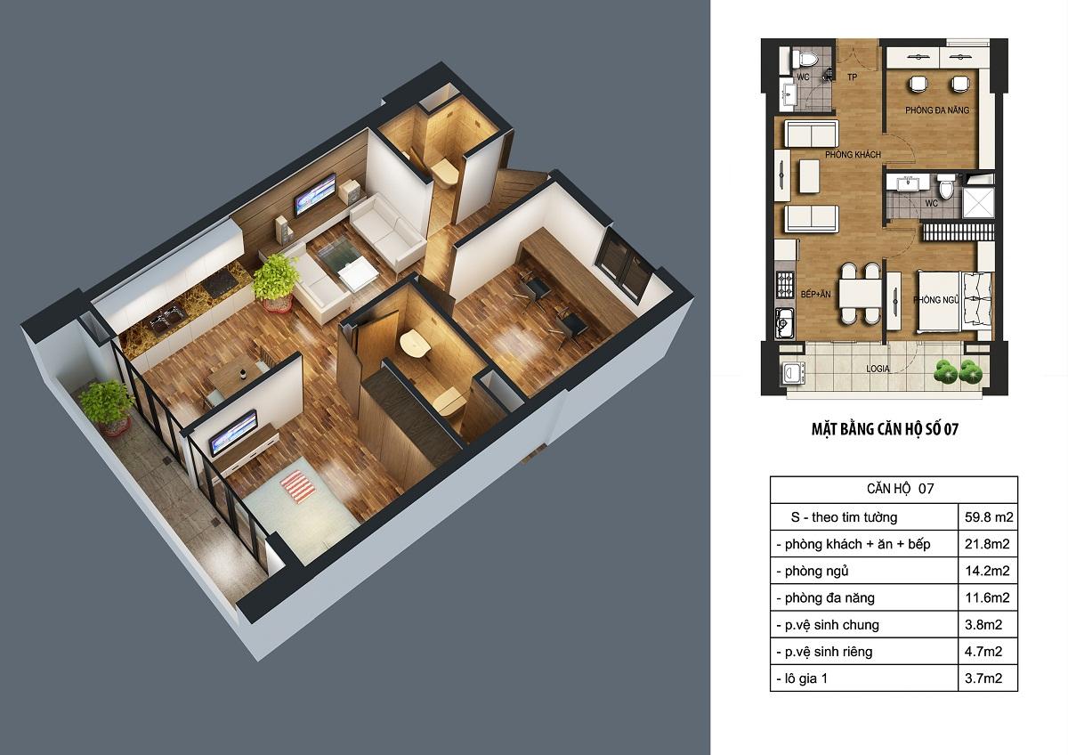can-59.8m2-dream-home3 Chung cư ct36 dream home - kđt định công
