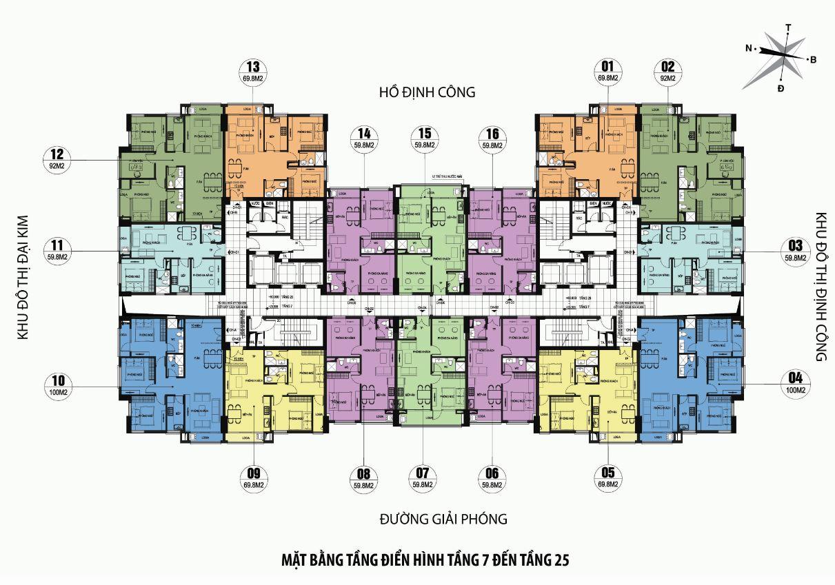 mat-bang-dien-hinh Chung cư ct36 dream home - kđt định công