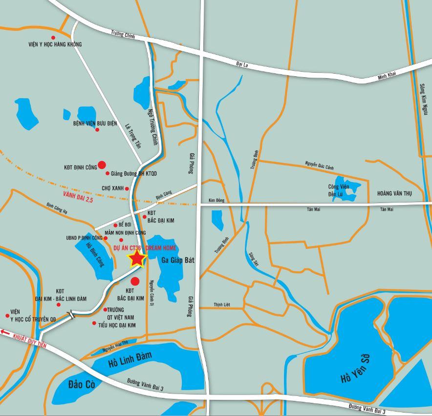 vi-tri Chung cư ct36 dream home - kđt định công