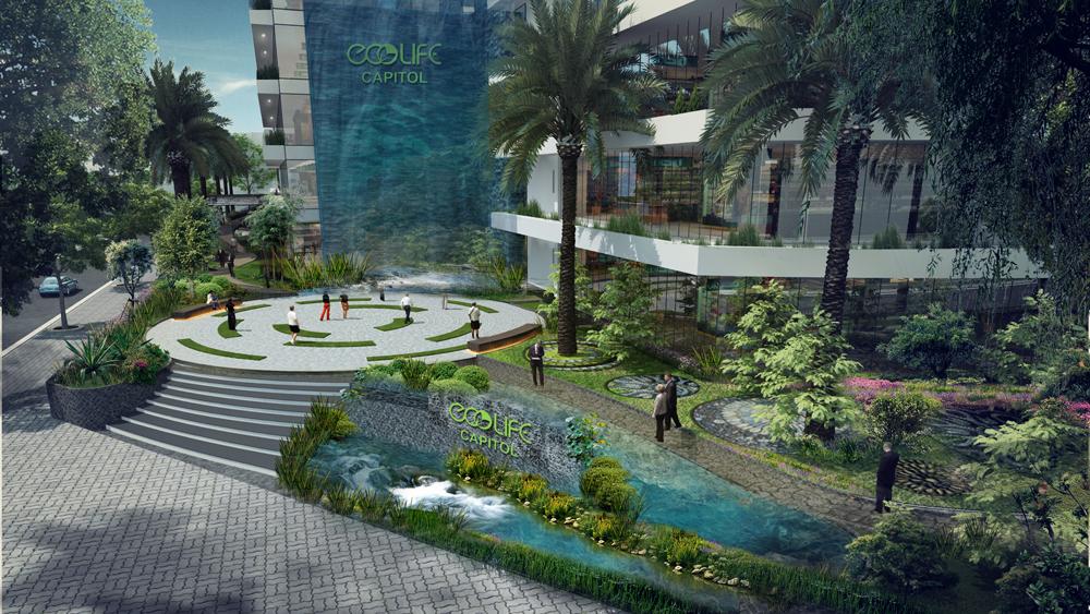 Không gian xanh của chung cư EcoLife Capitol