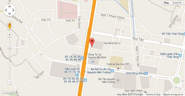 Vị trí dự án FLC Complex Tower 36 Phạm Hùng