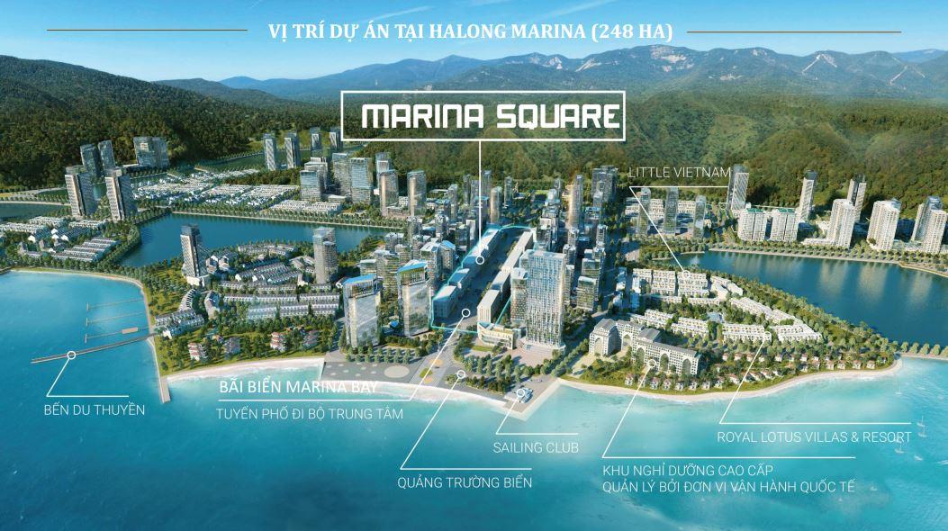 Vị trí dự án trong quần thể Halong Marina