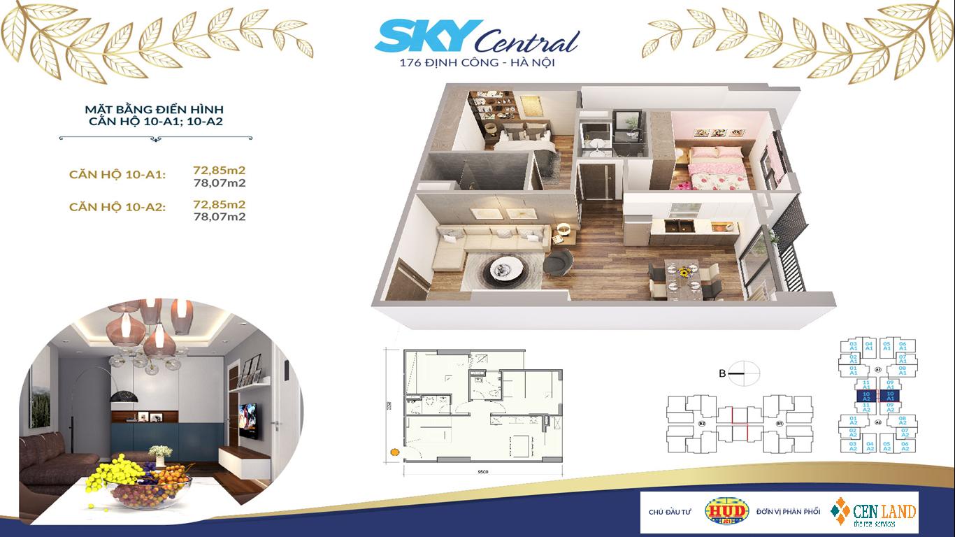 Nằm tại trung tâm phía Nam của Thành phố, Sky Central là dự án nằm trên mặt đường vành đai 2.5 và nhiều tuyến đường huyết mạch. Hệ thống mạng lưới giao thông thuận tiện giúp cư dân Sky Central có thể di chuyển về bất kỳ nơi nào của thành phố và các tỉnh lị xung quanh một cách nhanh chóng và an toàn nhất.     Sky-Central-vi-tri     Sky Central dễ dàng kết nối trung tâm hành chính, trung tâm mua sắm và giải trí, các hệ thống trường học và bệnh viện lớn. Không chỉ vậy, cư dân còn được thừa hưởng hệ sinh thái xanh – trong lành hồ lớn xung quanh như: hồ Định Công, hồ Linh Đàm, hồ Yên Sở.
