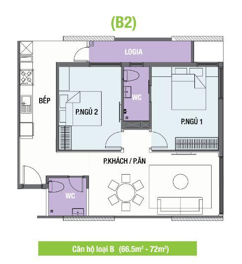 thiet-ke-mat-bang-can-ho-the-one-residence-loai-b2