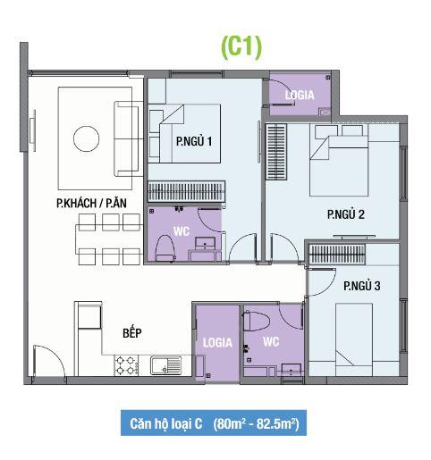thiet-ke-mat-bang-can-ho-the-one-residence-loai-c1