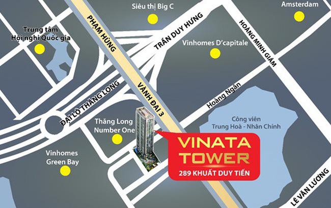 Vị trí dự án Vinata Tower